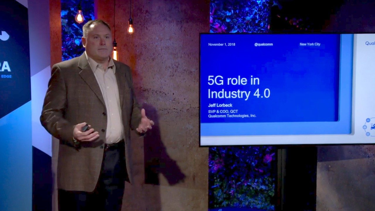 Qualcomm`s Jeff Lorbeck talks about the role of 5G in Industry 4.0 in a TED workshop
