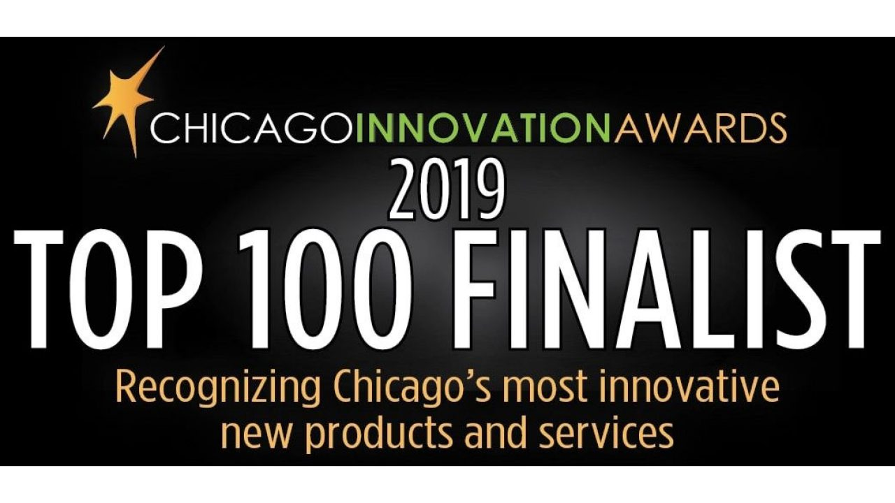 A logo indicating that Zebra is a Top 100 Finalist in the 2019 Chicago Innovation Awards.