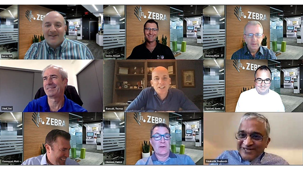 A screenshot from a recent virtual briefing with Zebra executives and solution engineers