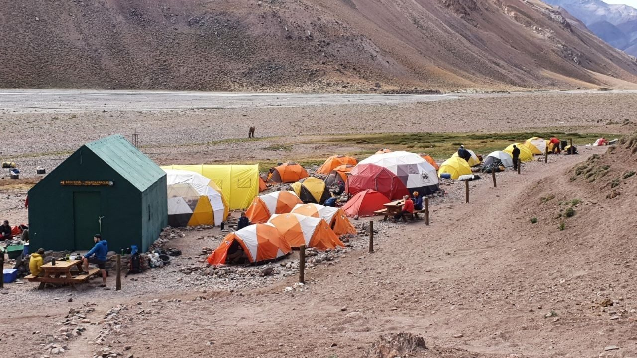 One of the camps the Zebra team stayed at while attempting to summit Mount Aconcagua