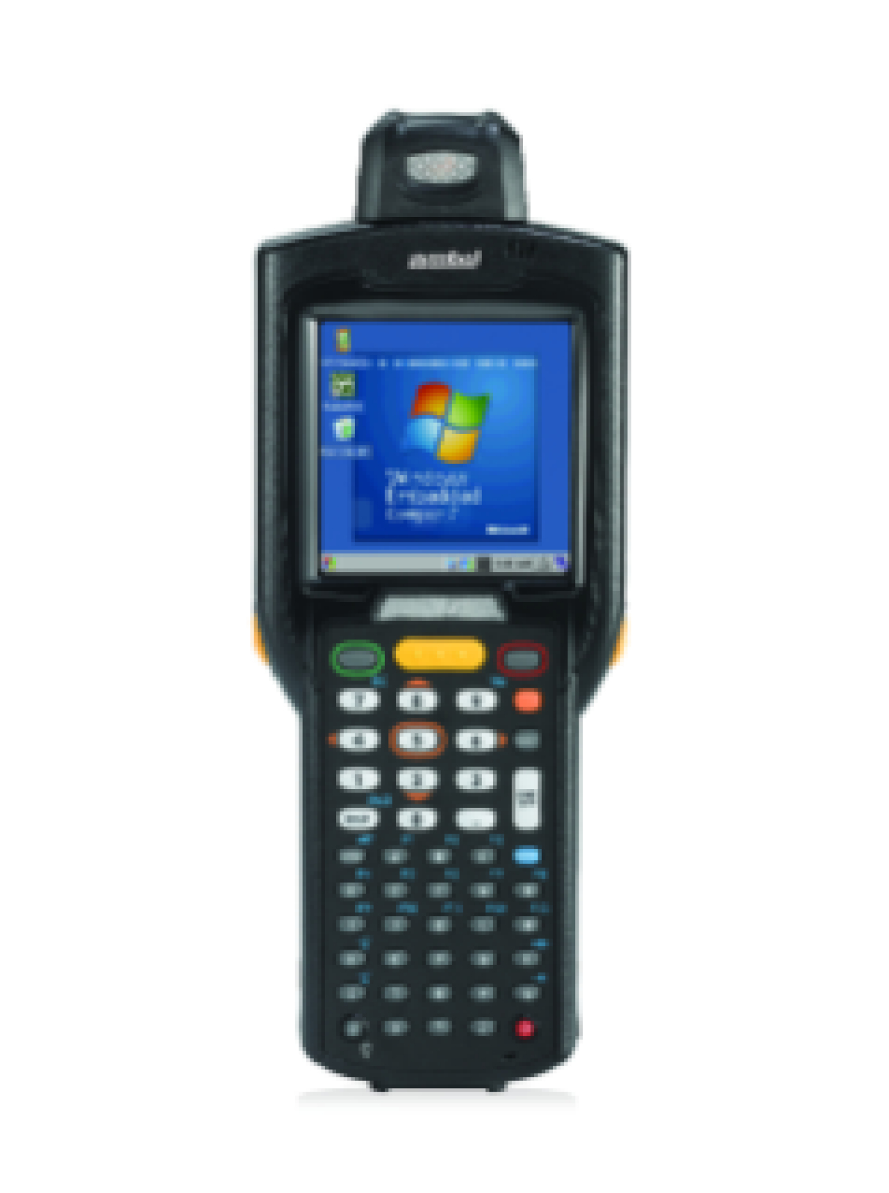 Front of Zebra MC3200 Mobile Computer
