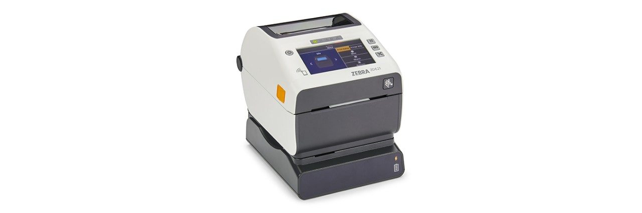 ZD620 Colour Thermal Transfer Printer opened up to receive cartridge