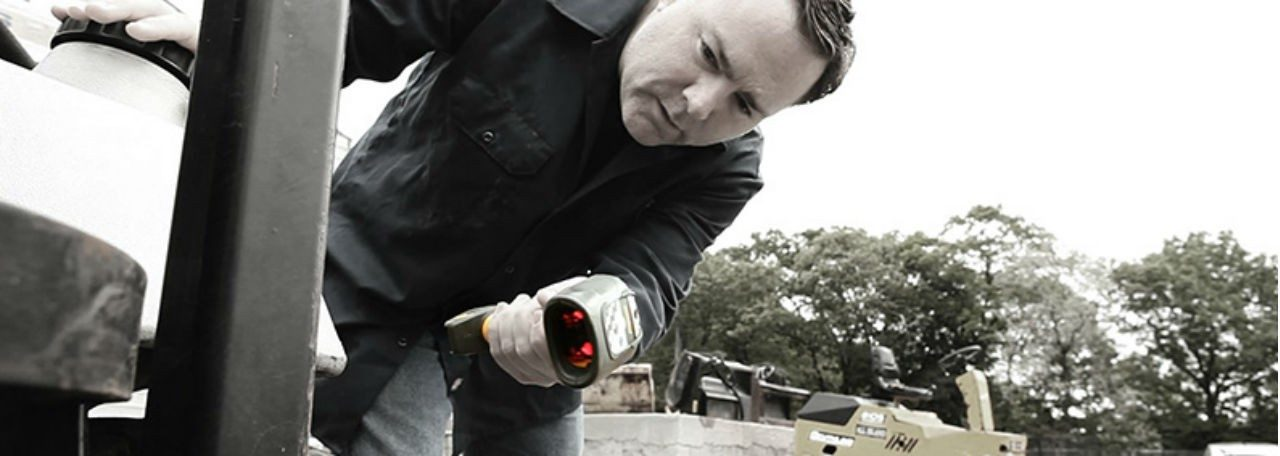 Man using Zebra barcode scanner