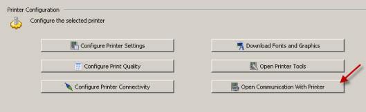 Zebra Setup Utilities -- Sending Printer Commands and Receiving Data