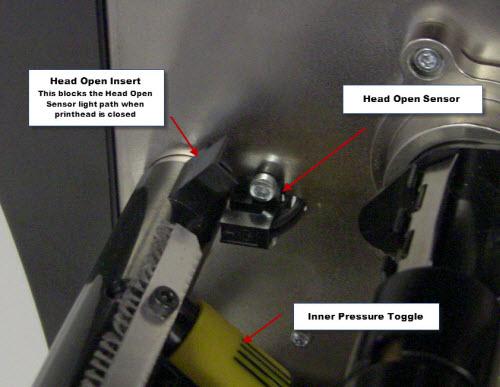 ZT 400 Series - Head Open Error