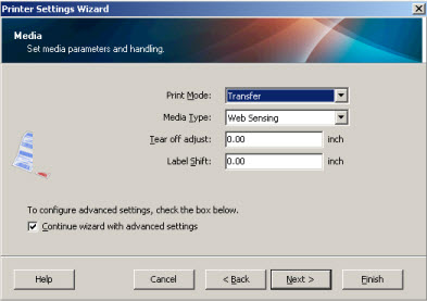 Zebra Setup Utilities -- Configuring Printer Settings