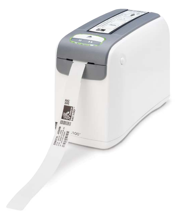 HC100 wristband printer left view