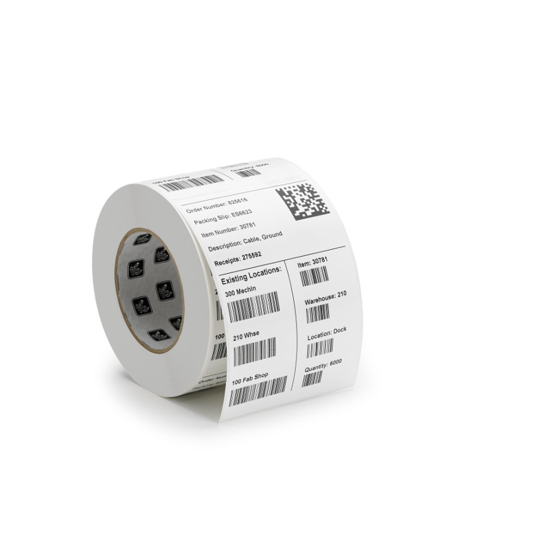 roll of polyo synthetic barcode labels