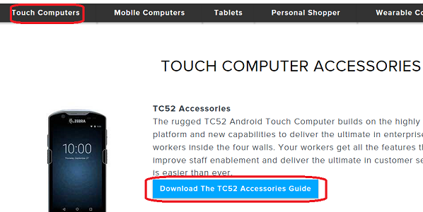 Looking for Device Accessory Guide | Zebra
