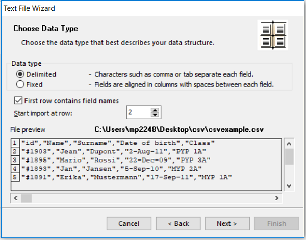 Connect a text or a  csv file to a label with ZebraDesigner
