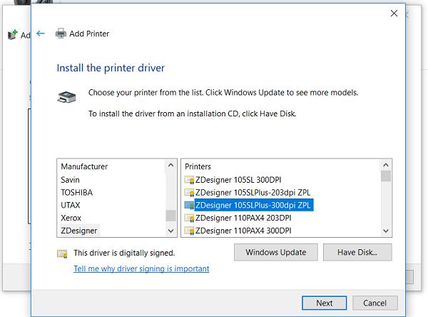 Adding A Networked Zebra Printer To A Windows 10 Pc Zebra