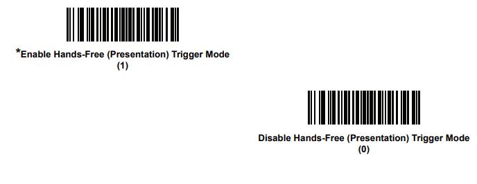 Enable Presentation Mode For Ls2208 Zebra