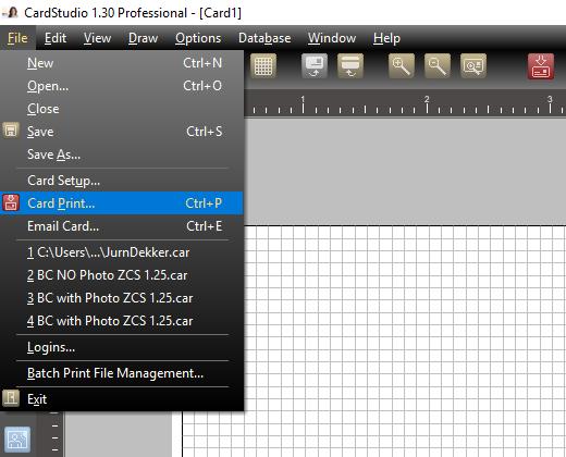 Printing Cards In Portrait Or Landscape From Cardstudio 1 Zebra