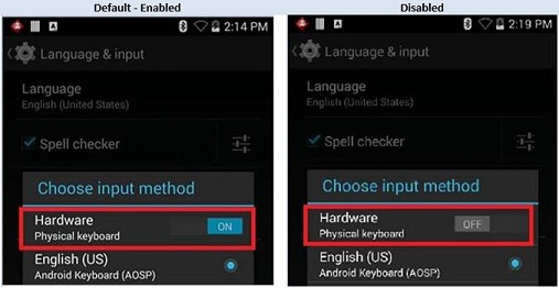 TC70 TC75 KitKat: Re-enable soft keyboard after connecting
