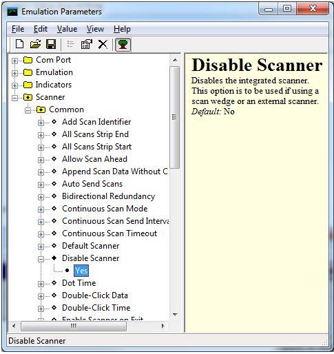 Disable Scanner in Wavelink TelnetCE Emulation | Zebra