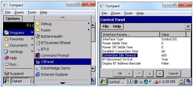 Configure Bluetooth Scanner Connection Idle Timeout Zebra