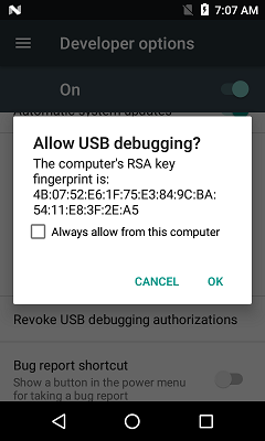 Setup and configure to use ADB for Zebra Android devices   Zebra
