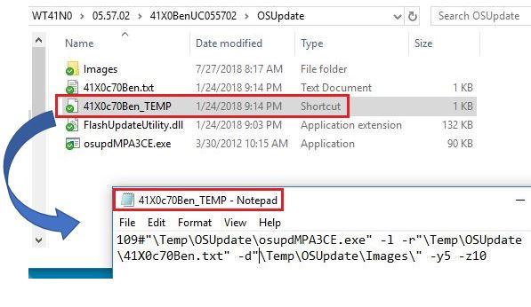 Update Windows CE OS using Windows 10 version 1703 (Creators