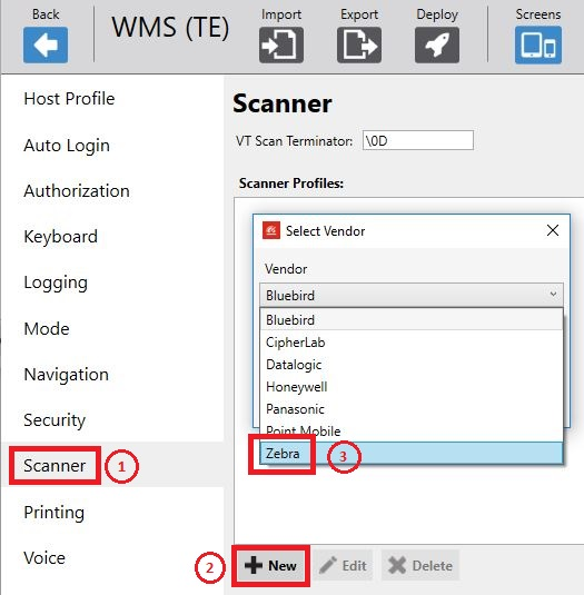 Enable Picklist mode in Ivanti Velocity Client (All-touch TE