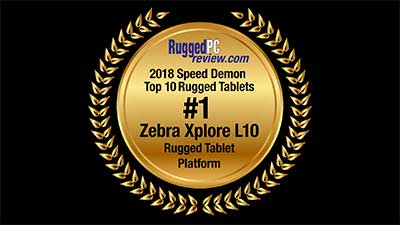 Rugged PC review.com award for Zebra Xplore L10