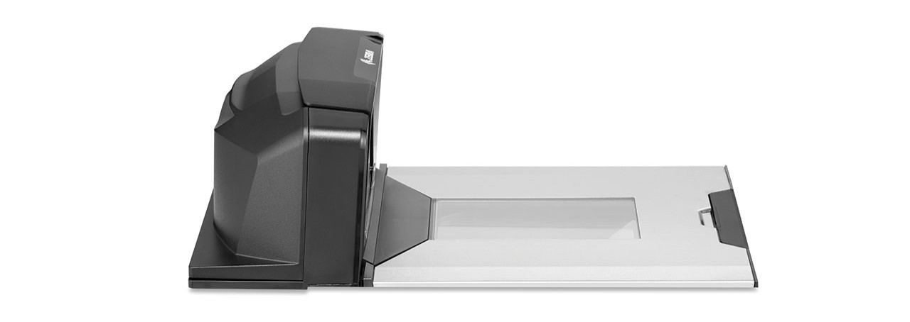 Right side view of the counter portion of the Zebra MP7000 Grocery Scanner Scale
