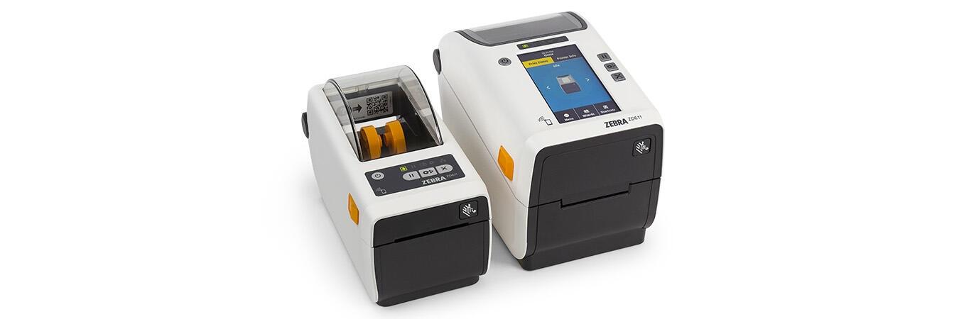 Impressora de transferência térmica colorida ZD620 aberta para receber um cartucho