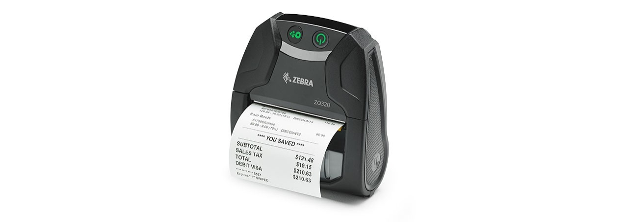 ZQ320 Series outdoor mobile printer with label