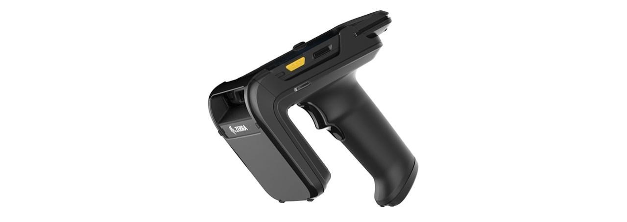Vue de gauche du pistolet de support Zebra RFD2000 UHF RFID