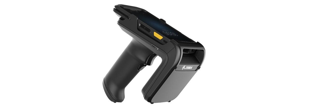 Vue de droite du pistolet de support Zebra RFD2000 UHF RFID