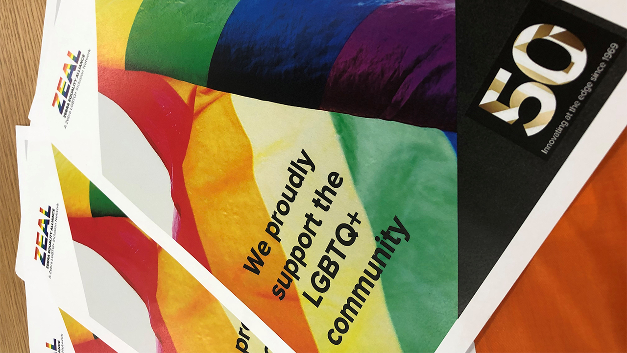 Posters promoting Zebra\x26#39;s support for the LGBTQ+ community