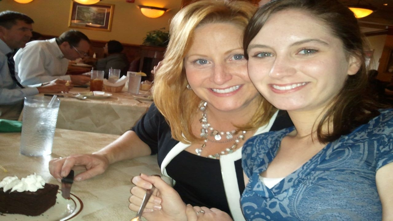 Melissa Mitchell and her daughter Katie Mitchell in a recent photo at a restaurant