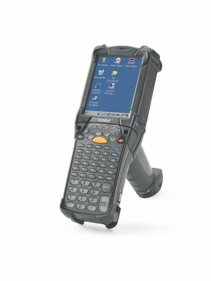 Vista lateral izquierda de la computadora móvilMC9200 de Zebra