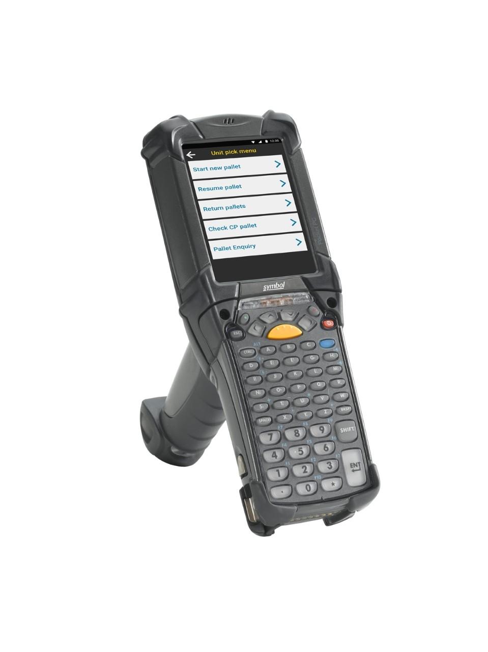 Vista lateral derecha de la computadora móvilMC9200 Android de Zebra