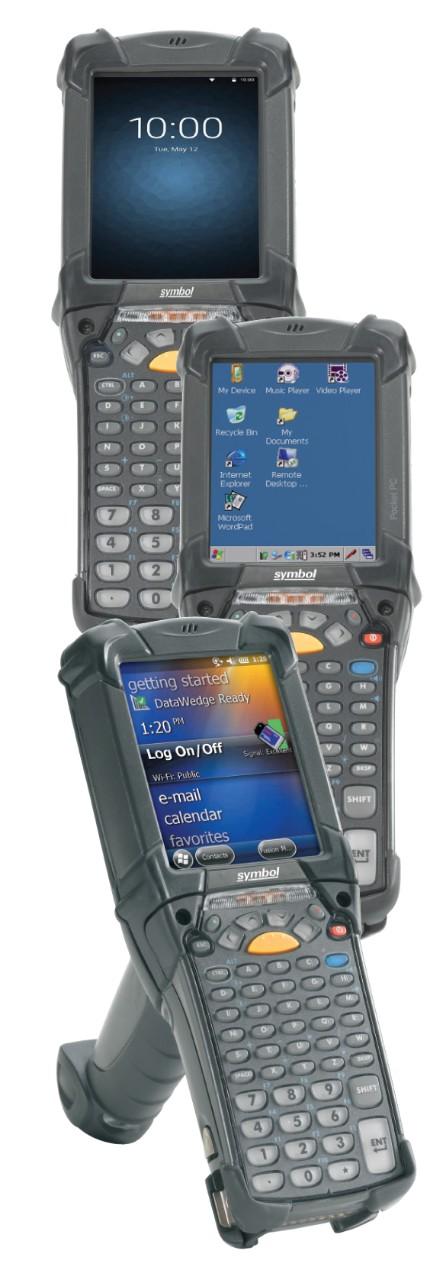 Potrójne ujęcie komputera mobilnego Zebra MC9200