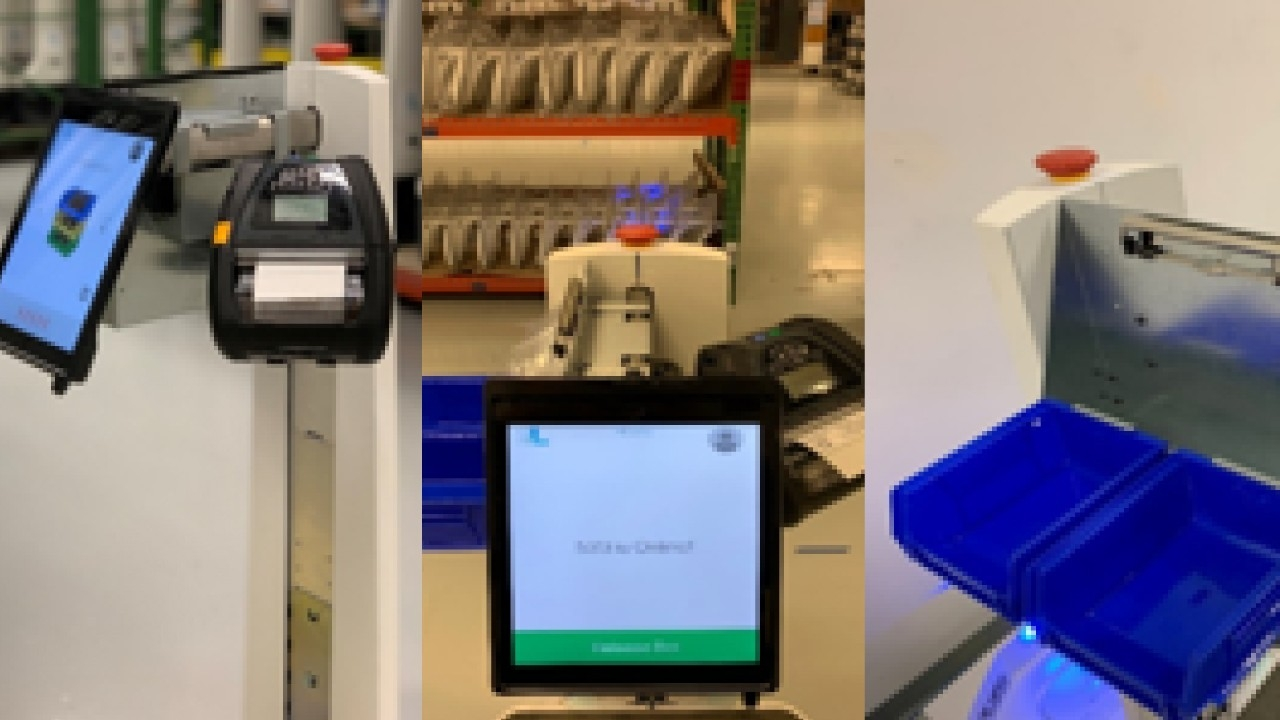 Three use cases of printers and robots working together in a warehouse