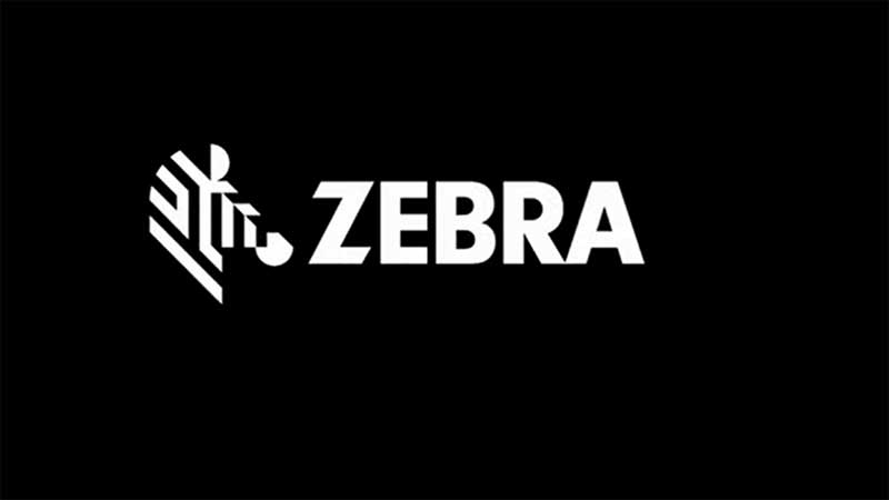 Zebra Logo on Black Background
