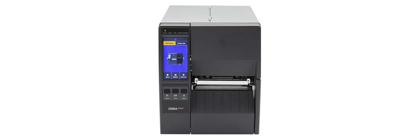 Zebra ZT230 Industrial Printer with Media, Left View