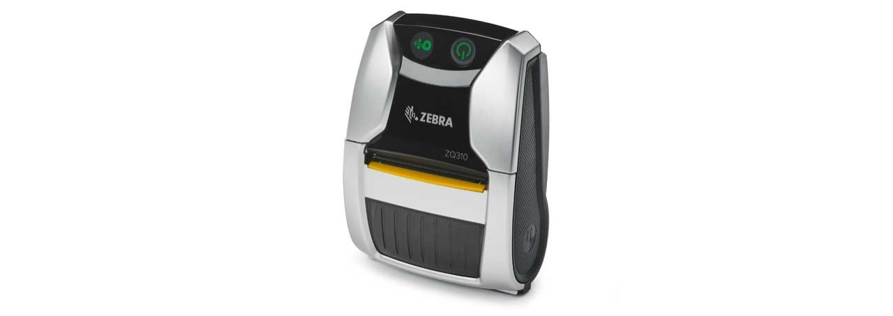 Image of the indoor ZQ310 mobile receipt printer angled left