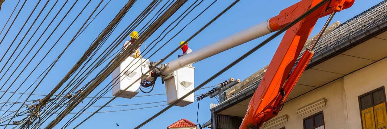 local utility company managing communication lines
