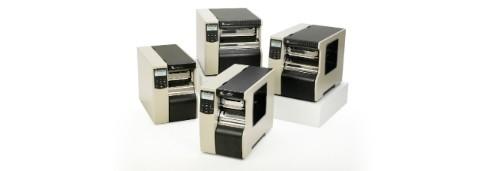 Промышленный принтер Zebra 110XiiiiPlus (на групповом снимке с продукцией xi4)