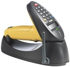 Zebra P370 discontinued scanner (shown in cradle)