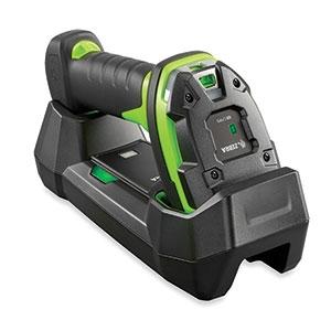 Zebra DS3608 ultra rugged scanner in cradle