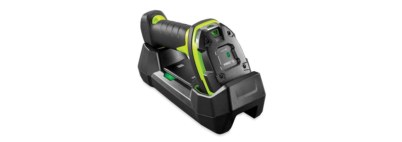 Zebra LI3678\u002DSR Ultra Rugged Scanner in Cradle