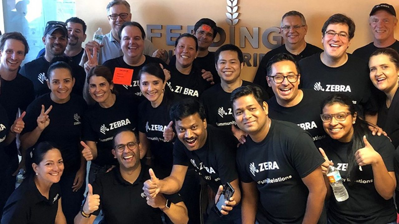 Zebra employees at an event wearing black t\u002Dshirts