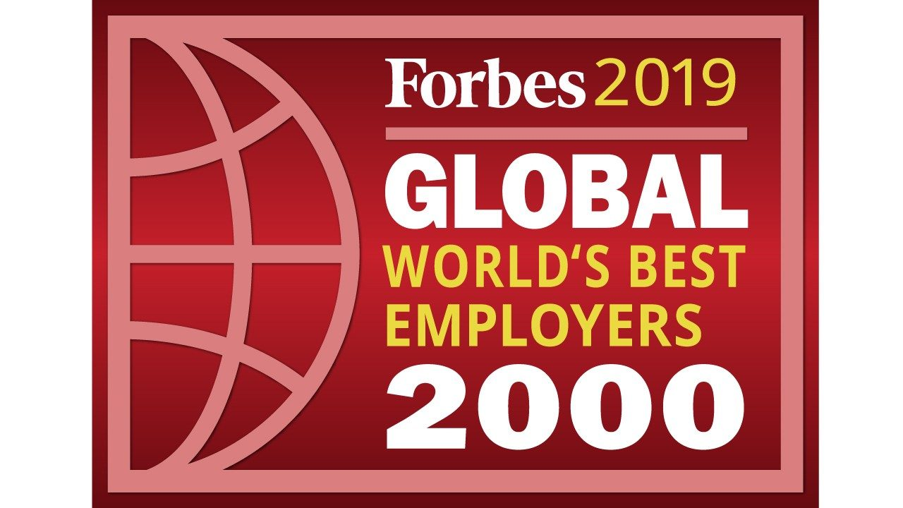 Forbes 2019 World`s Best Employers Global 2000 logo