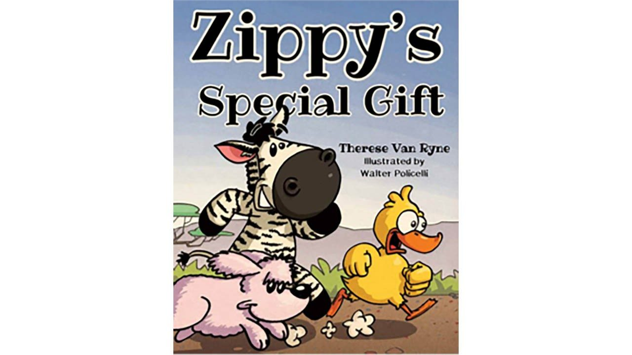 The cover of \x26#34;Zippy's Special Gift,\x26#34;  a new children`s book written by Zebra`s Therese Van Ryne to benefit Bernie`s Book Bank.