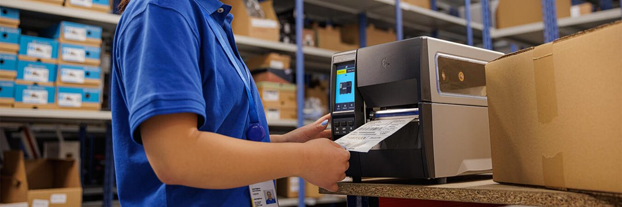 Zebra ZT220 Printer in a warehouse environment
