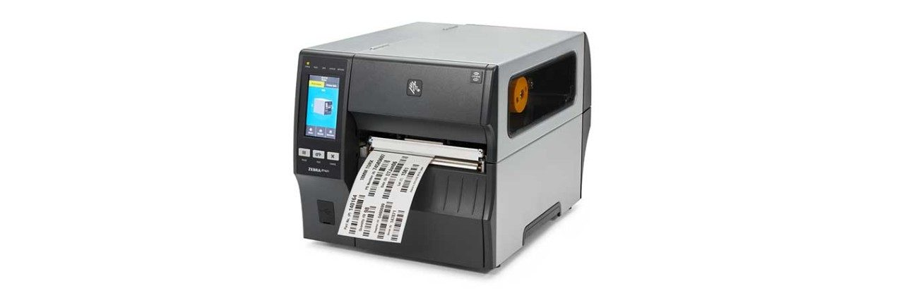 ZT421 RFID Printer with Media, Left View