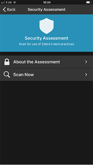 Security Assessment Mobile Screen