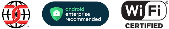 Android Enterprise Recommended Icon, WiFi Certified Icon